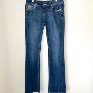 L.A. Idol USA Embellished boot cut jeans. Size 7